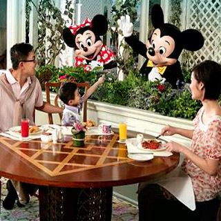 預訂香港迪士尼店住宿入場劵翠樂庭餐廳 hong kong disney's hotel enchanted garden restaurant breakfast buffet package 自助早餐優惠